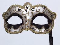 Glittering Black & Gold Mask